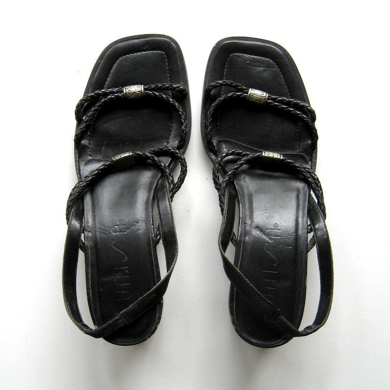 055d78685f1f Vintage Sandals Unisa Strappy sandals Black Silver metal