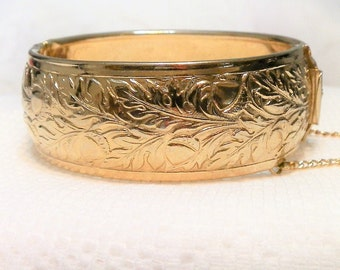 Wide Solid Brass Bangle Bracelet-Aged Patina-Vintage Bohemian Accessory-Cuff Bracelet-Costume Jewelry-Numbered-Orphaned Treasure-030817B