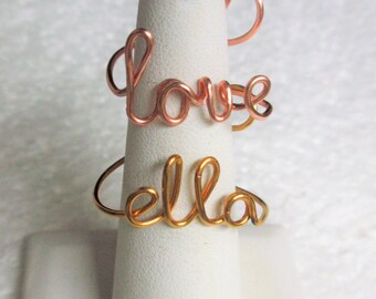 Name Ring/ Personalized ring/ Word ring /Handmade ring
