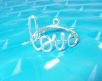 Love Ring ,Adjustable.Custom Handmade , Personalized Jewelry,Bridal. Best Friend ,Someone Special 14 K Gold, Sterling  Silver 925,,Copper