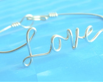 Personalized  Love/Word  Bracelet .Custom Handmade.Sterling Silver.14KGold Fill.14K Rose Gold Fill.Bridal Gift .Friend, Mother's Day, Sister