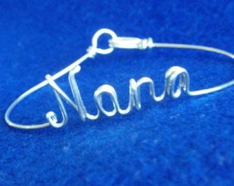 Nana,Noni, Mom, Mimi,ANY  Name , Custom Handmade Bracelet.14 K Gold Filled ,14 K Rose Gold fill ,Sterling Silver 925 , Gift