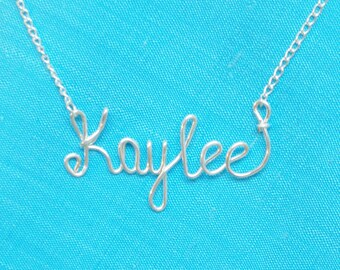 Custom Handmade Name Necklace,14 K Gold Filled, Sterling Silver 925, 14 K Rose Gold Filled,ANY Name, Cursive, Personalized, Gift.