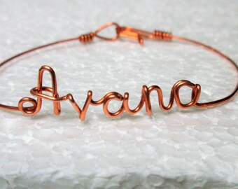 Name Bracelet /Personalized bracelet/Wire name bracelet/Name bangle Bracelet/bangle/Name Word bracelet/ Customized Handmade to order. Gifts