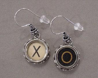 681929b158db0 Typewriter Key Jewelry Earrings X O HUGS and KISSES X O   Etsy