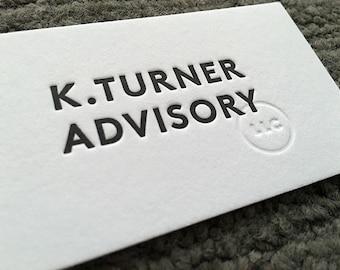 Letterpress Business Cards - 2 color