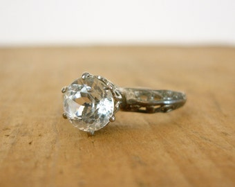 RESERVED. Art Deco Ring / Engagement Ring / 1930s Ring