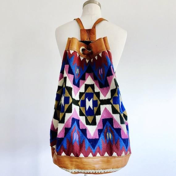 Kilim Backpack • South American Wool Backpack • Le