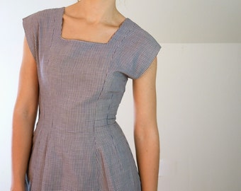 1940's Sailorette Gingham Party Dress