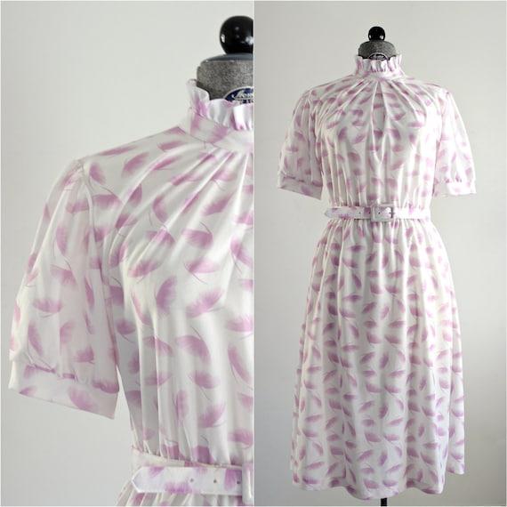 Ruffle Dress • 1970s Day Dress • Ginkgo Dress • 70
