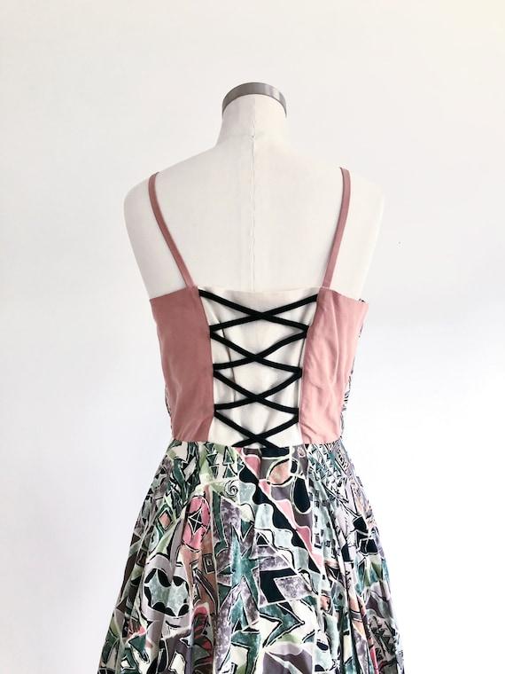 90s Corset Dress - Peplum Dress