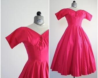 Anne Fogarty Dress • 50s Dress • 1950s Dress • Pink 1950s Dress • 50s Party Dress • 1950s Party Dress • New Look Dress • Fit and Flare Dress