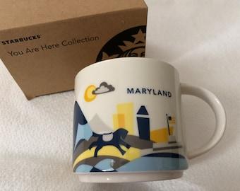 Starbucks You Are Here Collectible Mug Maryland