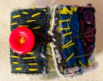 Handmade OOAK Fabric Cuff