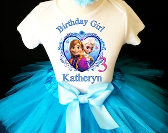 8th Eighth 8 birthday party Shirt  Personalized  2 Pc Pink Tutu outfit  Fast shipping Disney Princess Dress +NAME+