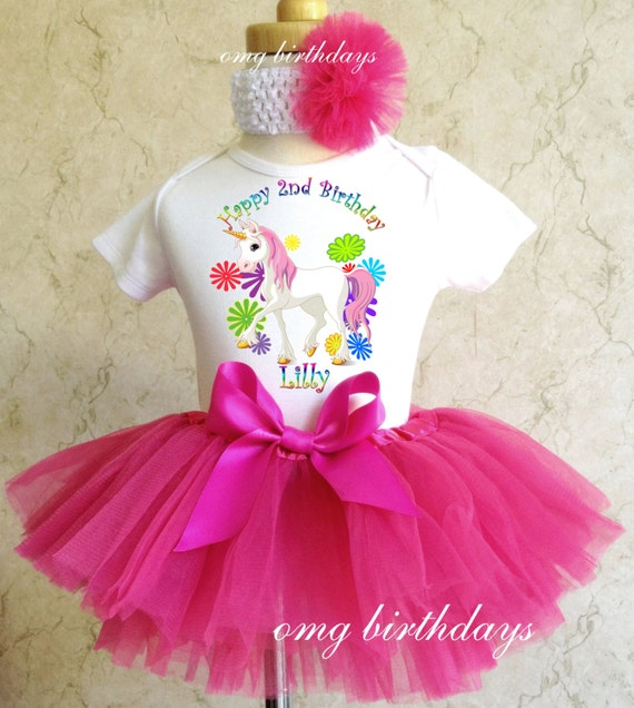 Pink Rainbow Cupcake Girl 1st First Birthday Tutu Outfit Shirt Set Party dress
