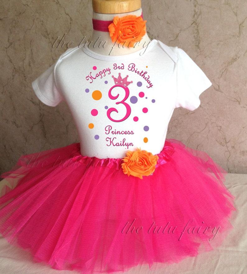 f1438032538ba Orange purple pink princess crown dots first 1st 2nd 3rd 4th | Etsy