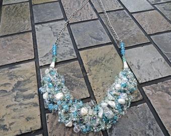 Anastasia Wire Crochet Statement Necklace