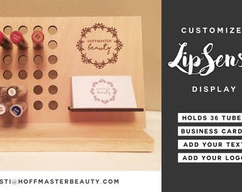 LipSense Lipstick Display - Standard 36 Hole Size - Customizable Business Card Holder - LipSense Stand