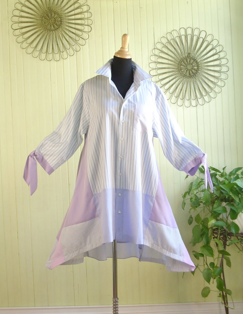 Size L Women's Tunic Top/ Upcycled Men's image 0