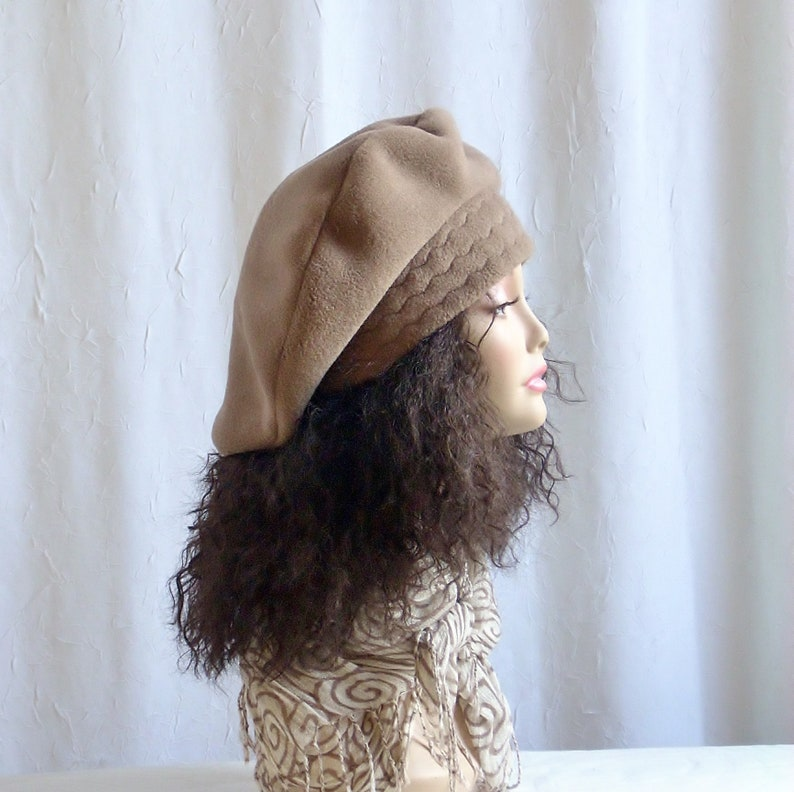 Size M Fleece Beret/Over Sized Fleece Tam/Hats for image 0