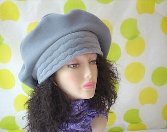 Beret/Tam SIZE LARGE Oversize Beret/Fleece Tam/Slouchy Hat/Light Gray/ 24 inch (60.9cm) Headband