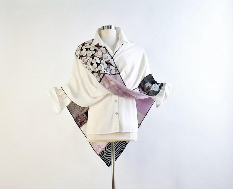 Mobius Wrap/Infinity Shawl/Twisted Mobius Wrap/Dusty Plum/Silk image 0