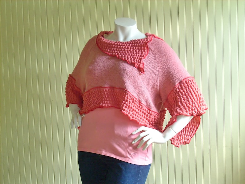3X  Cropped Sweater Shrug/ Oversized Cropped Top/Altered image 0