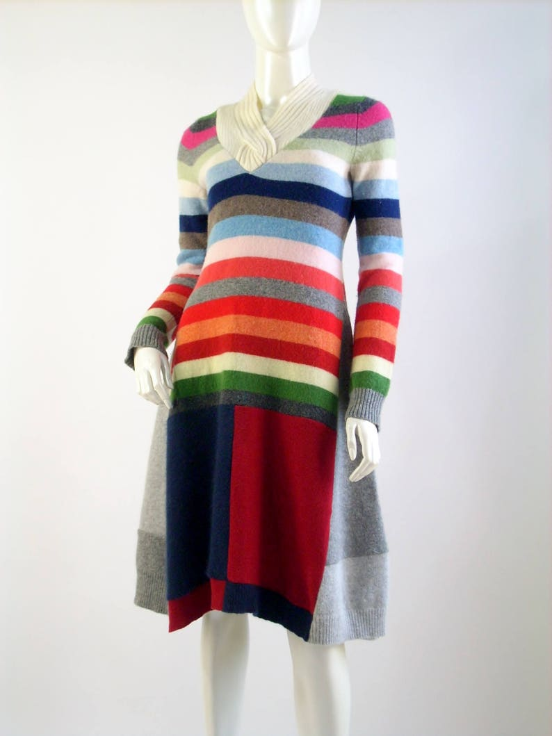 Sweater Dress/Altered Clothing/Reconstructed Womens Dress/Boho image 0