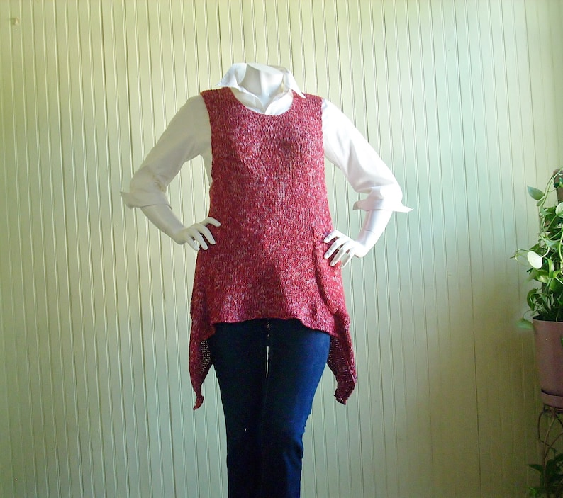 Upcycled Pullover Vest/Altered Clothing/Recycled Sweater image 0
