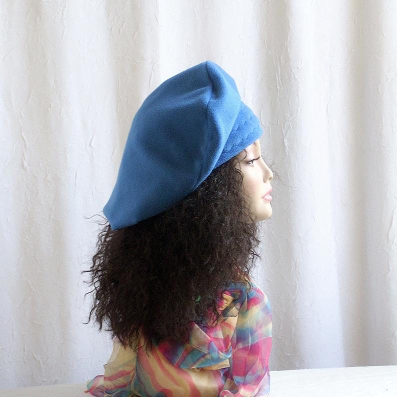 XL Slouchy Fleece Beret/ Oversize Tam/Hat for Dreadlocks/Hats image 0
