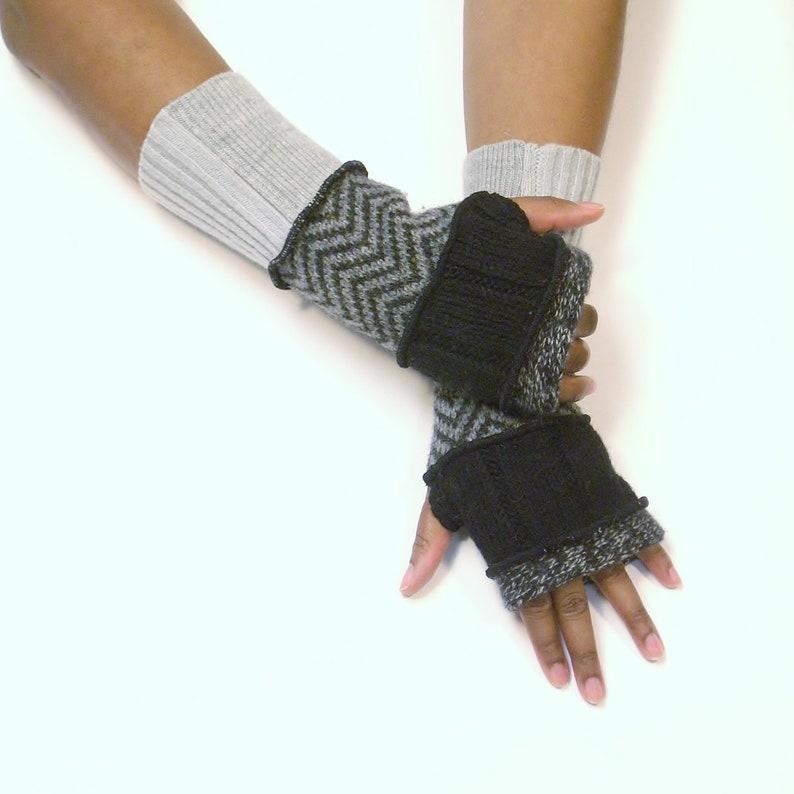 Fingerless Gloves Wrist Warmers Heather image 0