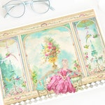 Marie Antoinette print, French Conservatory, Garden room, Parisienne decor, Petite Maison, watercolour, art print, A4 giclee