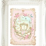 Once upon a time fairy tale princess carriage, nursery decor, baby girl, nursery print, A4 giclee