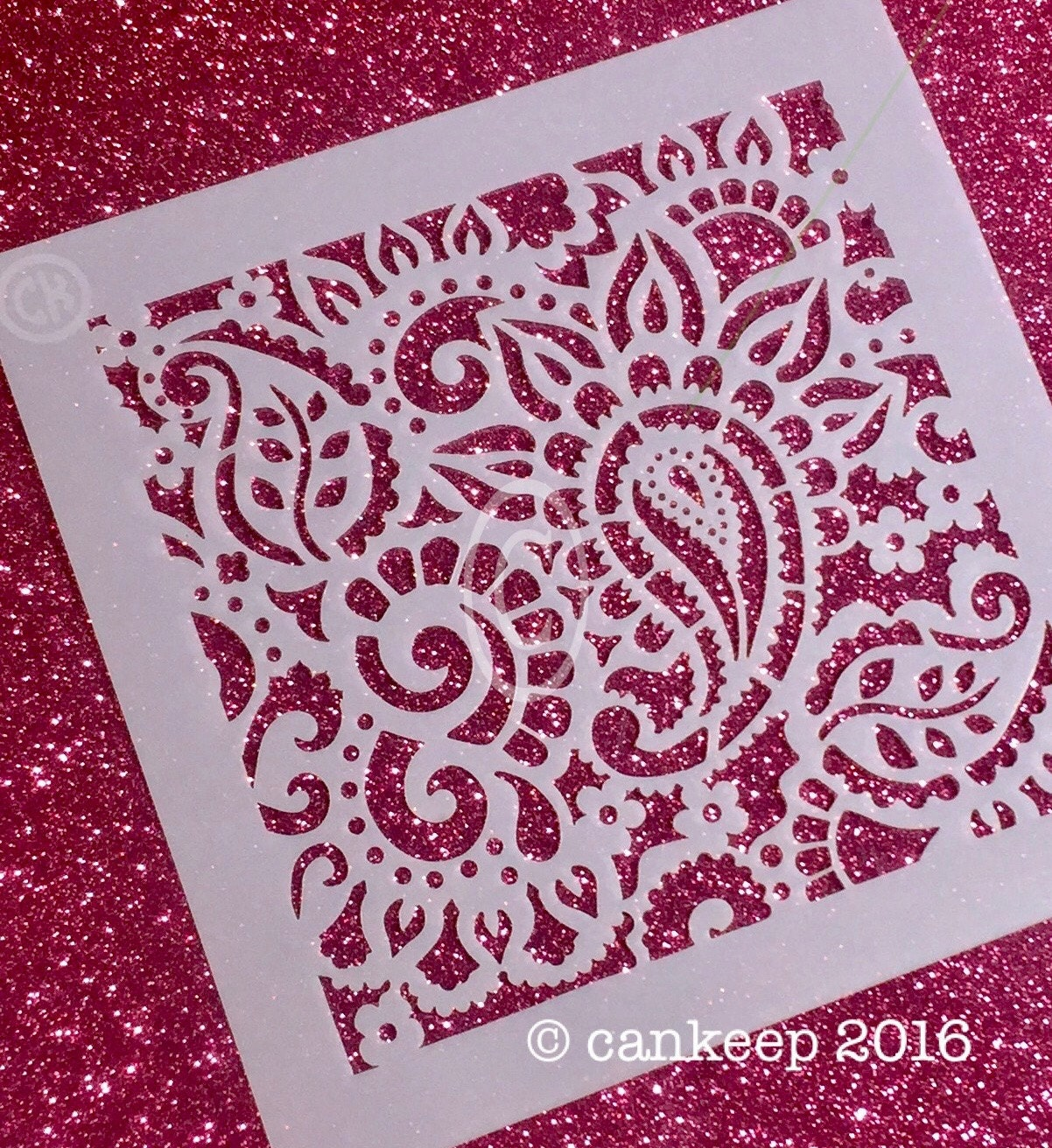 Cookie Stencil Bohemian Paisley Background Laser Cut Etsy