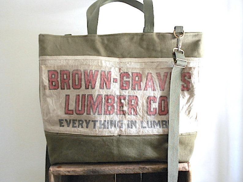 51024cd3f SALE Military canvas nail apron tote bag carryall vtg | Etsy