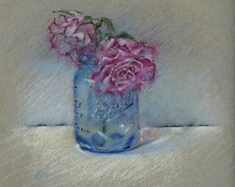 Original Pastel Painting still life sketch