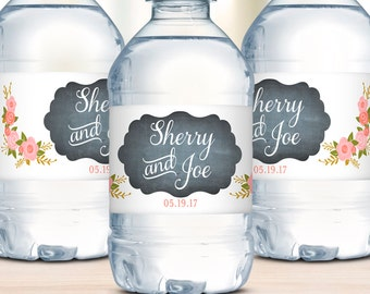 Water Bottle Labels, Wedding Welcome Bags, Unique Wedding Favors, Rustic Wedding, Waterproof Labels, Destination Weddings, Wedding Stickers
