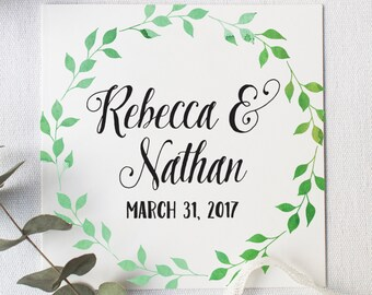 Wedding Welcome Bag Tag, Rustic Wedding, Watercolor Favor Tag, Welcome Box Tag, Watercolor Wreath, Wedding Favor Tag, Personalized Favor Tag