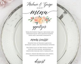 Wedding Menus, Printed Menus, Menu Cards, Dinner Menus, Wedding Reception Menus, Wedding Decor, Beach Wedding Menus, Napkin Menu Inserts