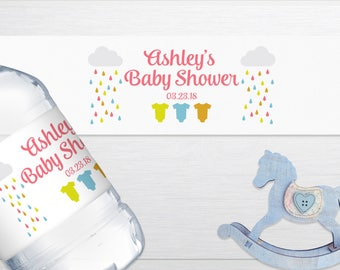 Baby Shower Water Bottle Labels, Baby Shower Favors, Neutral Baby Shower, Water Bottle Label, Baby Girl Shower Favor, Baby Boy Shower Favor