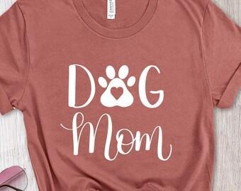 Dog Mom Shirt, Dog Mom Gift, Dog Lover Gift, Fur Mama T-Shirt, Paw Print Tee, Bella Canvas T-Shirt, Dog Paw Print, Mother's Day Shirt
