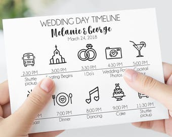 Wedding Day Timeline Cards, Wedding Itinerary Cards, Wedding Welcome Bags, Wedding Welcome Box, Destination Weddings, Wedding Welcome Letter