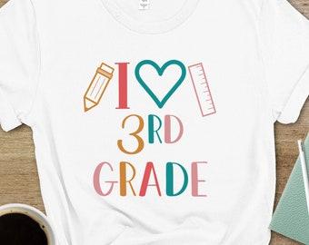 Third Grade Teacher Shirt, Third Grade Back to School Shirt, 3rd Grade Crew T-Shirt, Third Grade T-Shirt, Third Grade Squad, Teacher Gift