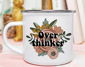 Fall Campfire Mug, Overthinker Camp Mug, Over Thinker, Quotes About Life, Gift for Her, Introvert Mug, Mental Health Coffee Mug, Tea Mug