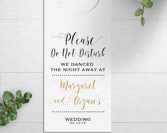 Wedding Door Hangers, Wedding Welcome Bags, Destination Wedding Favors, Do Not Disturb Signs, Wedding Welcome Box, Hotel Door Signs, Rustic