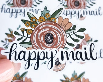 Flower Happy Mail Sticker Sheet, Floral Stickers, Fall Small Business Stickers, Happy Mail Stickers, Packaging Stickers, Pen Pal Envelope