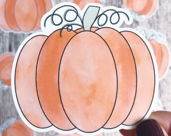 Halloween Stickers, Halloween Decorations, Pumpkin Sticker, Laminated Stickers, Vinyl Decals, Fall Decor, Autumn Stickers, Fall Stickers