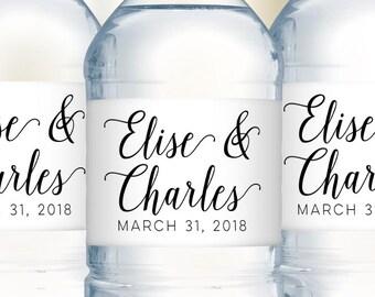 Wedding Welcome Bag Water Bottle Labels, Wedding Water Bottle Labels, Destination Wedding Favors, Wedding Favor Labels, Wedding Stickers