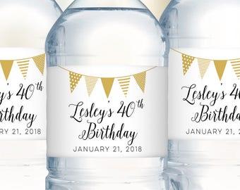 Water Bottle Labels, Birthday Decoration, Birthday Water Bottle Label, Party Decoration, Personalized Labels, Party Water Bottle Label